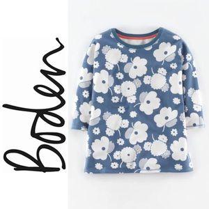 Boden Mod Floral Allover Print Sweater Jumper EUC